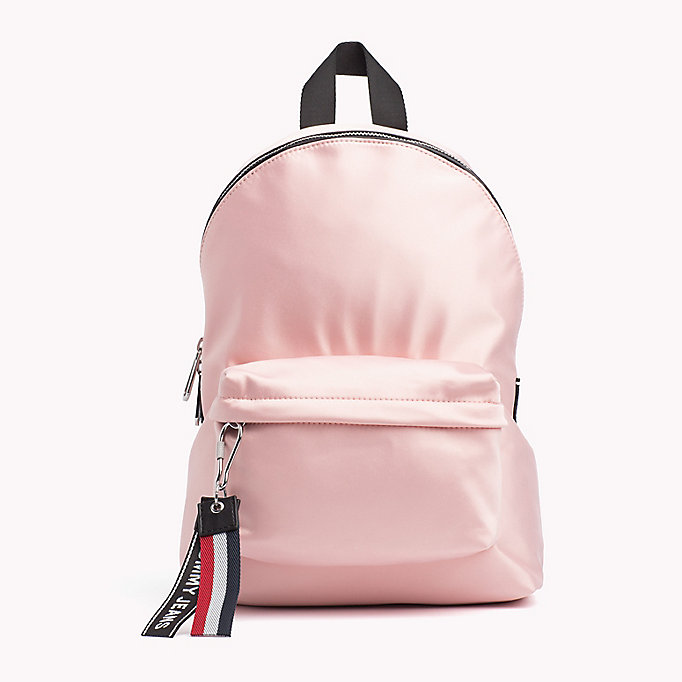 TOMMY JEANS Tommy Jeans Logo Satin Backpack - PUMICE STONE - TOMMY JEANS Women - main image