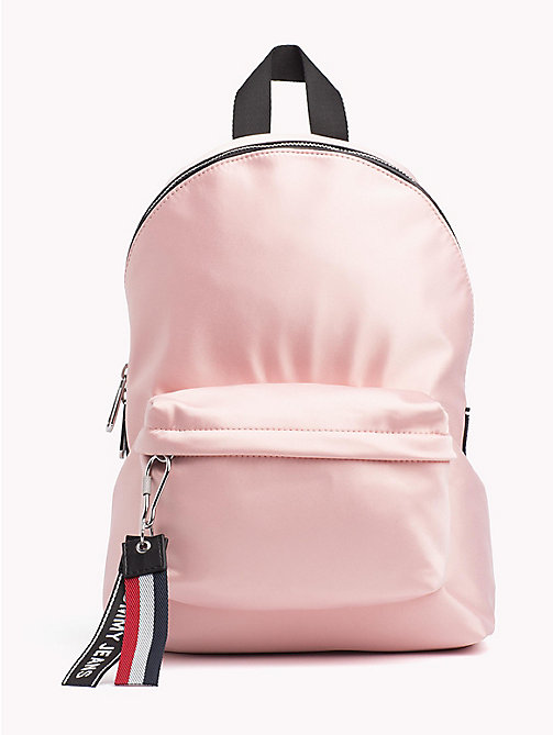 TOMMY JEANS Tommy Jeans Logo Satin Backpack - ROSE CLOUD - TOMMY JEANS Bags & Accessories - main image