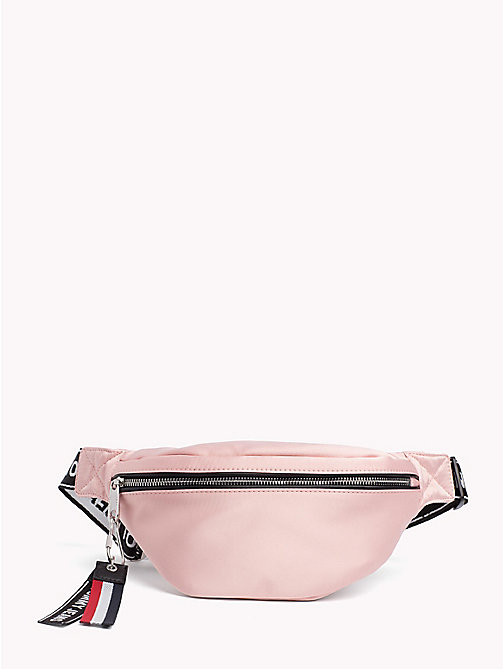 TOMMY JEANS Tommy Jeans Logo Satin Bumbag - ROSE CLOUD - TOMMY JEANS Festivals Season - main image