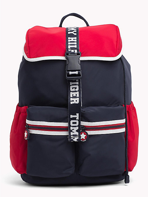 TOMMY HILFIGER TH Varsity Kids' Colour-Blocked Rucksack - CORPORATE - TOMMY HILFIGER Sports Capsule - main image