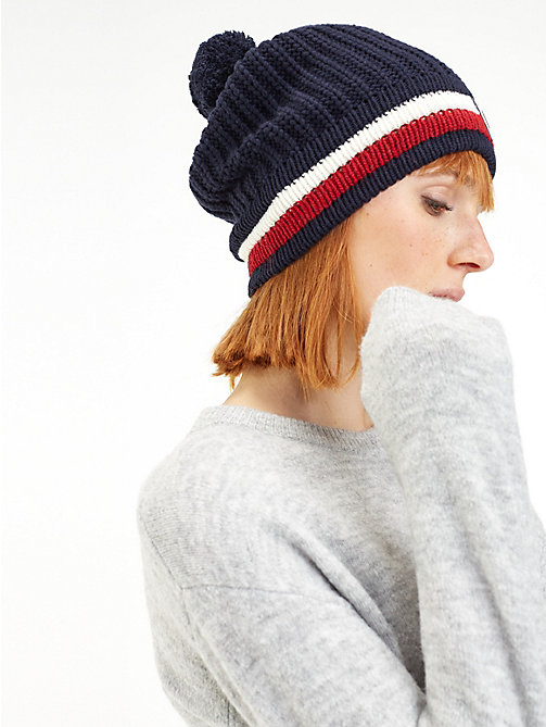 TOMMY HILFIGER Rossignol Chunky Bobble Beanie - TOMMY NAVY - TOMMY HILFIGER TOMMYXROSSIGNOL - detail image 1
