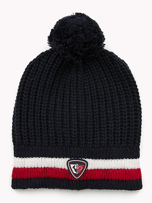 TOMMY HILFIGER Rossignol Chunky Bobble Beanie - TOMMY NAVY - TOMMY HILFIGER TOMMYXROSSIGNOL - main image