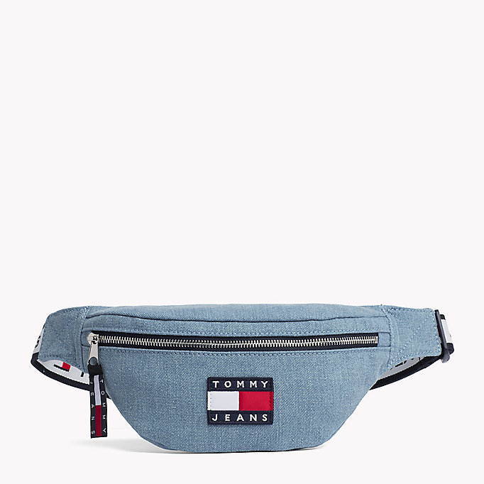 90s style denim bumbag tommy hilfiger official website. Black Bedroom Furniture Sets. Home Design Ideas