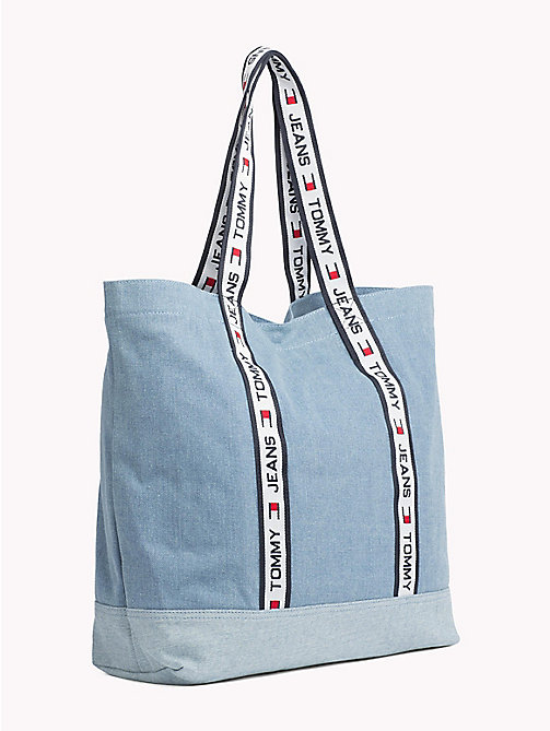 TOMMY JEANS 90s Style Denim Tote Bag - WASHED DENIM - TOMMY JEANS TOMMY JEANS Capsule - detail image 1