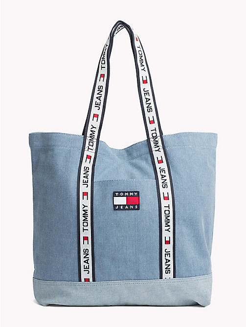 TOMMY JEANS 90s Tote-Bag aus Denim - WASHED DENIM - TOMMY JEANS TOMMY JEANS Capsule - main image