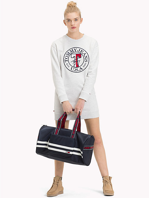 TOMMY JEANS Varsity Stripe Duffle Bag - BLACK IRIS - TOMMY JEANS Bags & Accessories - detail image 1