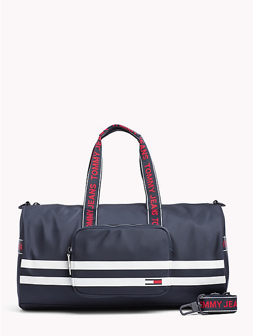 TOMMY JEANS Varsity Stripe Duffle Bag - BLACK IRIS - TOMMY JEANS Bags & Accessories - main image