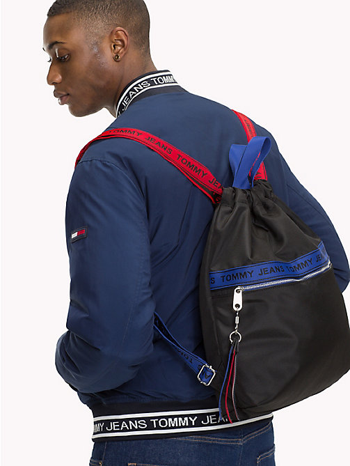 TOMMY JEANS Tommy Jeans Logo Tape Rucksack - BLACK MIX - TOMMY JEANS Backpacks - detail image 1