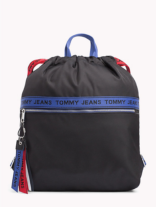 Tommy Jeans Logo Tape Rucksack - BLACK MIX - TOMMY JEANS Backpacks - main image