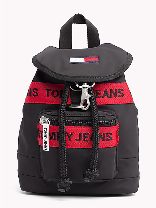 TOMMY JEANS Heritage Mini Backpack - BLACK MIX - TOMMY JEANS Bags & Accessories - main image