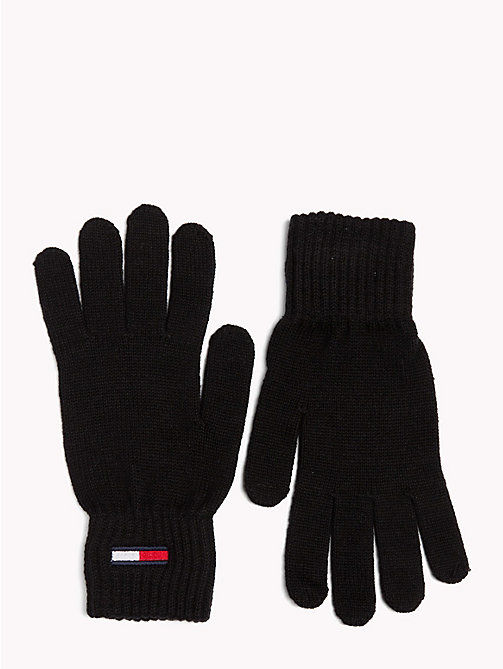 TOMMY JEANS Tommy Jeans Flag Gloves - BLACK - TOMMY JEANS Gloves - main image