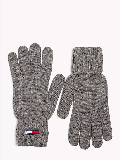TOMMY JEANS Tommy Jeans Flag Gloves - LIGHT GREY HEATHER - TOMMY JEANS Winter Warmers - main image