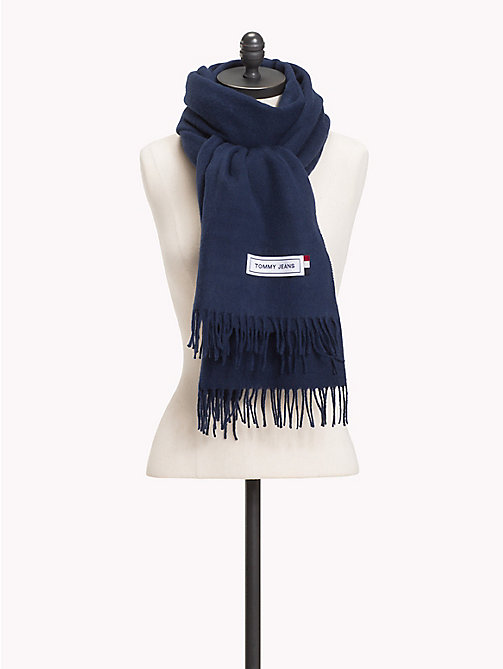 TOMMY JEANS Fringed Scarf - BLACK IRIS - TOMMY JEANS Bags & Accessories - main image