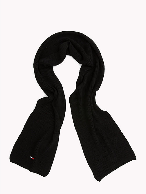 TOMMY JEANS Rib Knit Scarf - BLACK - TOMMY JEANS Scarves - detail image 1