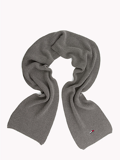 TOMMY JEANS Rib Knit Scarf - LIGHT GREY HEATHER - TOMMY JEANS Scarves - detail image 1