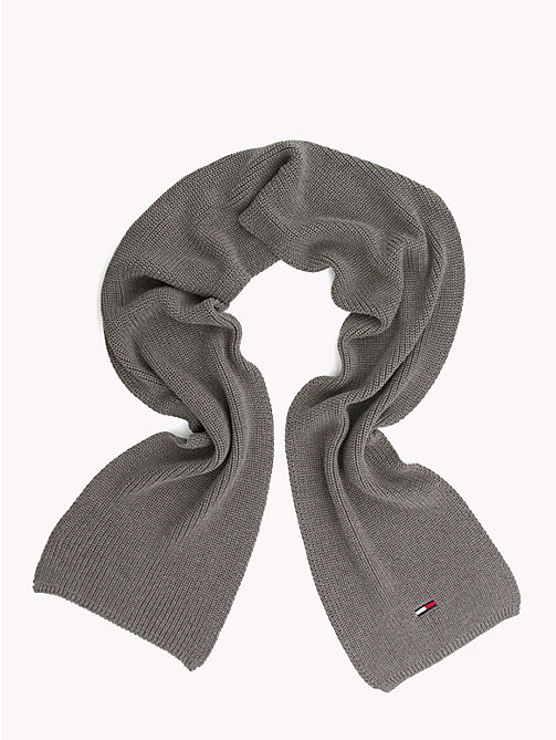 TOMMY JEANS Schal aus Rippstrick - LIGHT GREY HEATHER - TOMMY JEANS Schals - main image 1
