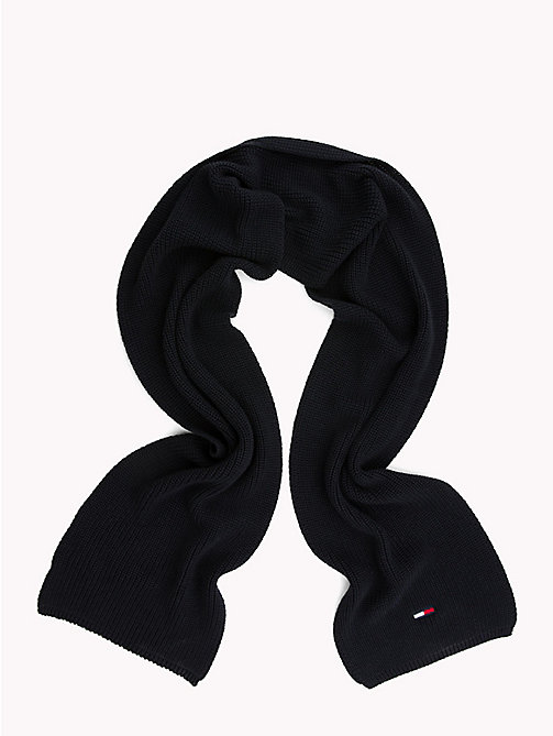 TOMMY JEANS Rib Knit Scarf - BLACK IRIS - TOMMY JEANS Bags & Accessories - detail image 1
