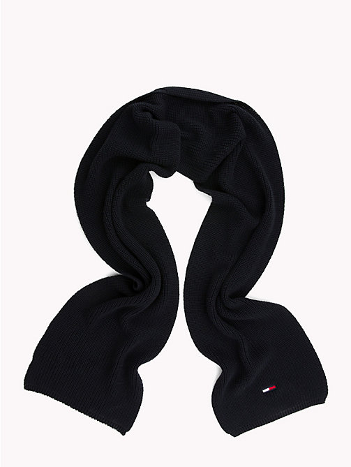 TOMMY JEANS Rib Knit Scarf - BLACK IRIS - TOMMY JEANS Scarves - detail image 1