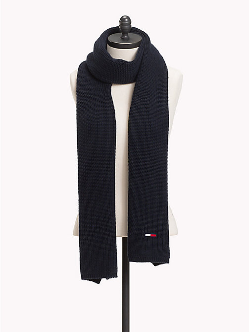 TOMMY JEANS Rib Knit Scarf - BLACK IRIS - TOMMY JEANS Bags & Accessories - main image