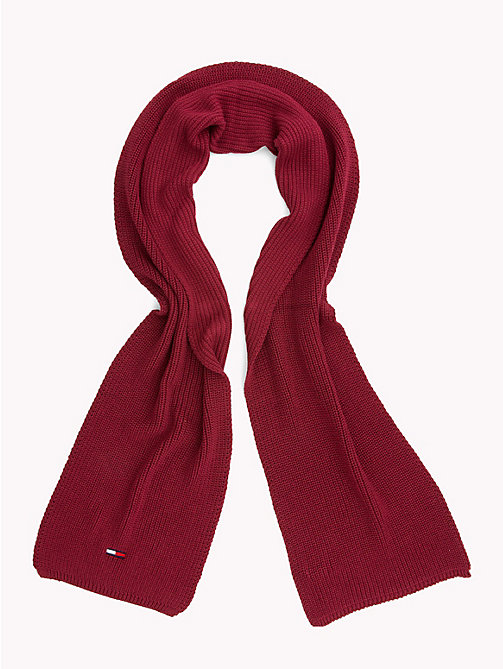 TOMMY JEANS Rib Knit Scarf - RUMBA RED - TOMMY JEANS Scarves - detail image 1