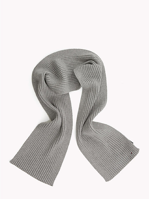 TOMMY HILFIGER Kids' Chunky Knit Scarf - GREY HEATHER - TOMMY HILFIGER Boys - main image