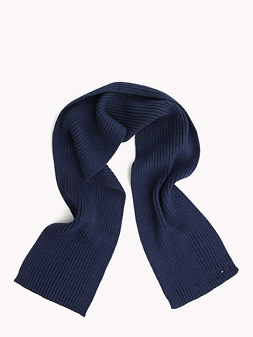 TOMMY HILFIGER Kids' Chunky Knit Scarf - BLACK IRIS -  Boys - main image