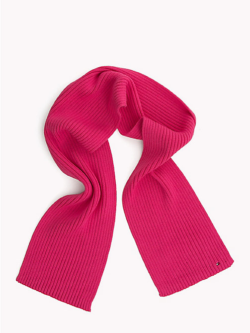 TOMMY HILFIGER Kids' Chunky Knit Scarf - PINK FLAMBE - TOMMY HILFIGER Shoes & Accessories - main image