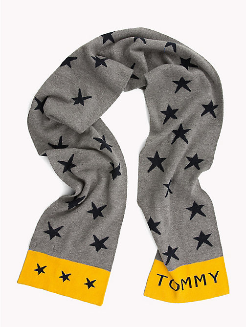 TOMMY HILFIGER Star Print Reversible Kids' Scarf - LIGHT GREY HEATHER - TOMMY HILFIGER Boys - main image