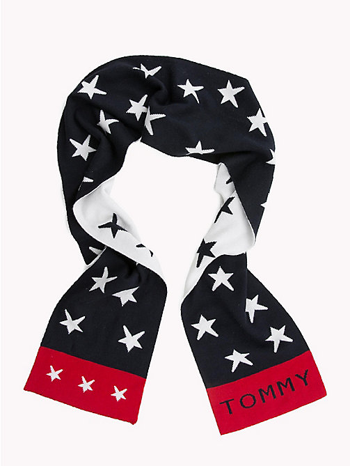 TOMMY HILFIGER Star Print Reversible Kids' Scarf - TOMMY NAVY - TOMMY HILFIGER Shoes & Accessories - main image