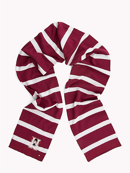 TOMMY HILFIGER Varsity Stripe Kids' Scarf - RUMBA RED/ WHITE - TOMMY HILFIGER Shoes & Accessories - main image