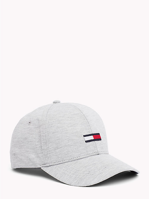 TOMMY JEANS Flag Baseball Cap - LIGHT GREY HEATHER - TOMMY JEANS Hats - main image
