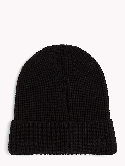 TOMMY JEANS Rib-Knit Beanie - BLACK - TOMMY JEANS Winter Warmers - detail image 1