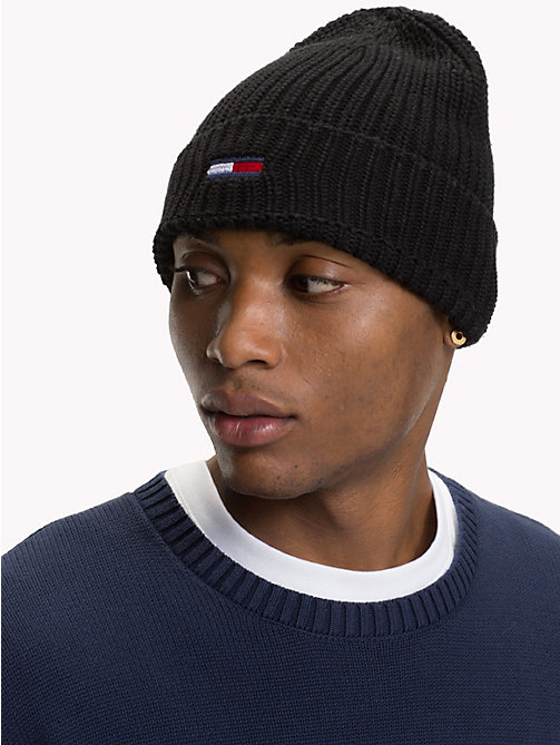 TOMMY JEANS Rib-Knit Beanie - BLACK - TOMMY JEANS Bags & Accessories - detail image 1