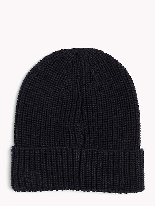 TOMMY JEANS Rib-Knit Beanie - BLACK IRIS - TOMMY JEANS Bags & Accessories - detail image 1