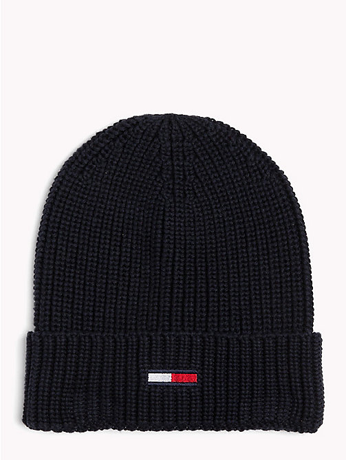 TOMMY JEANS Rib-Knit Beanie - BLACK IRIS - TOMMY JEANS Bags & Accessories - main image