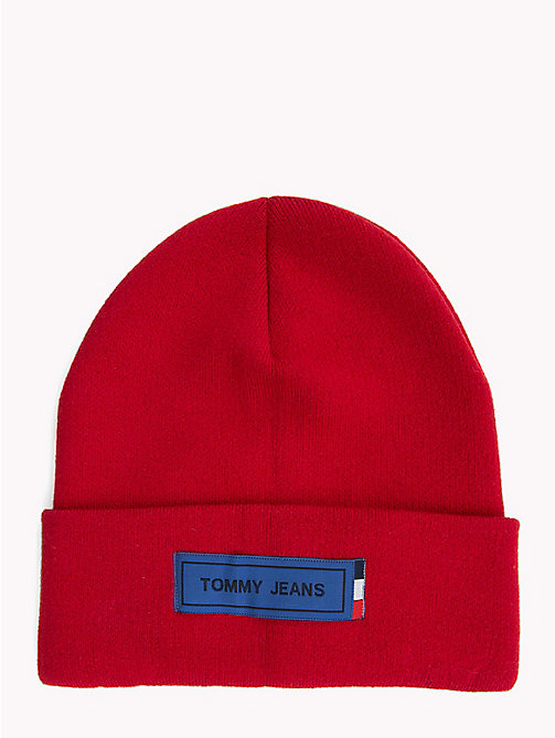 TOMMY JEANS Gorro con logo de Tommy Jeans - TOMMY RED - TOMMY JEANS Bolsos Y Accesorios - imagen principal