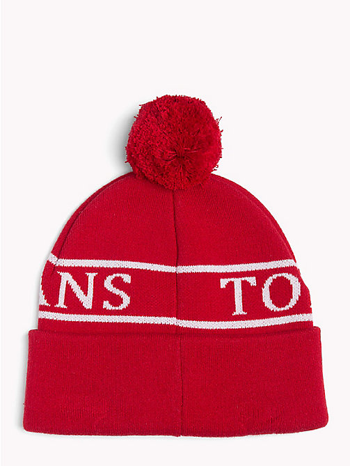TOMMY JEANS Tommy Jeans Varsity Beanie - TOMMY RED - TOMMY JEANS Shoes & Accessories - detail image 1