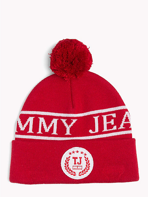 TOMMY JEANS Tommy Jeans Varsity Beanie - TOMMY RED - TOMMY JEANS Shoes & Accessories - main image