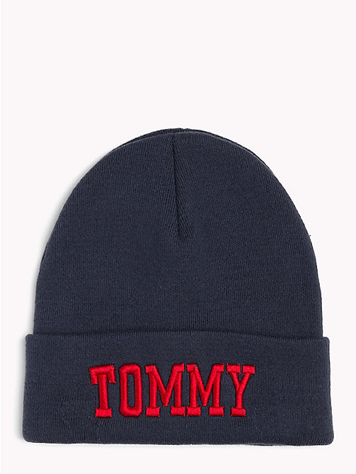 TOMMY JEANS Bonnet style universitaire Tommy Jeans - BLACK IRIS - TOMMY JEANS Bonnets - image principale