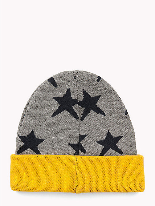 TOMMY HILFIGER Star Kids' Beanie Hat - LIGHT GREY HEATHER - TOMMY HILFIGER Shoes & Accessories - detail image 1