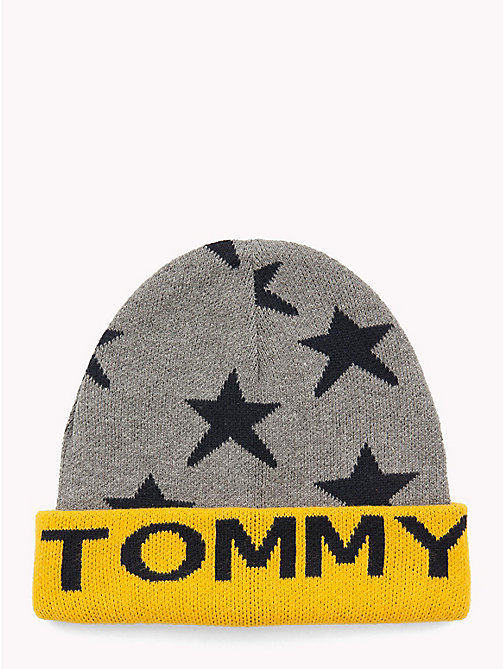 TOMMY HILFIGER Star Kids' Beanie Hat - LIGHT GREY HEATHER - TOMMY HILFIGER Shoes & Accessories - main image