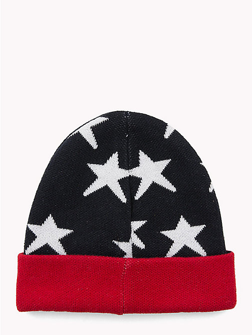 TOMMY HILFIGER Star Kids' Beanie Hat - TOMMY NAVY - TOMMY HILFIGER Shoes & Accessories - detail image 1