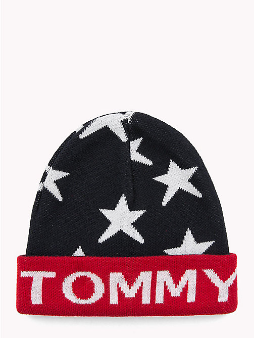 TOMMY HILFIGER Star Kids' Beanie Hat - TOMMY NAVY - TOMMY HILFIGER Shoes & Accessories - main image