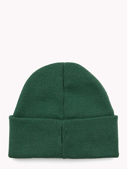 TOMMY HILFIGER Knitted Flag Kids' Beanie - HUNTER GREEN - TOMMY HILFIGER Shoes & Accessories - detail image 1