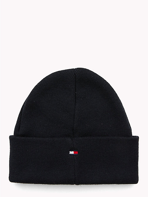 TOMMY HILFIGER Knitted Flag Kids' Beanie - TOMMY NAVY - TOMMY HILFIGER Shoes & Accessories - detail image 1
