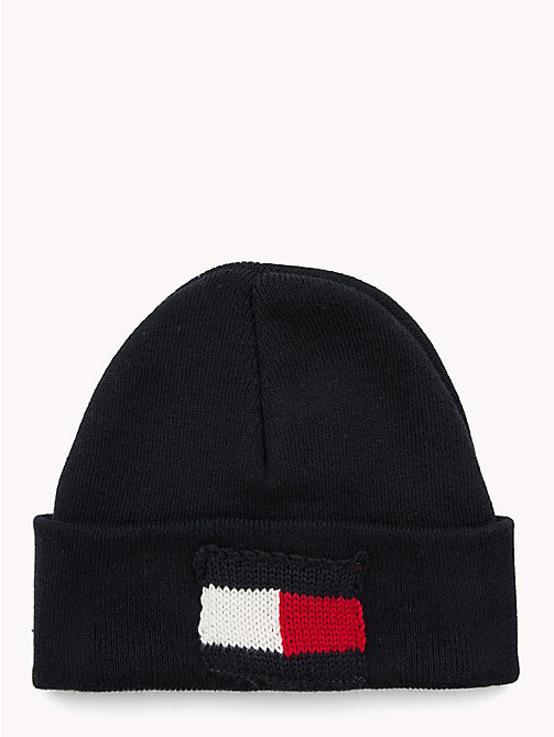 TOMMY HILFIGER Knitted Flag Kids' Beanie - TOMMY NAVY - TOMMY HILFIGER Girls - main image