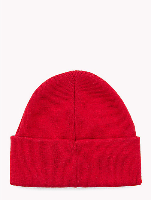 TOMMY HILFIGER Knitted Flag Kids' Beanie - TOMMY RED - TOMMY HILFIGER Girls - detail image 1