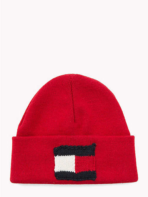 TOMMY HILFIGER Knitted Flag Kids' Beanie - TOMMY RED - TOMMY HILFIGER Shoes & Accessories - main image