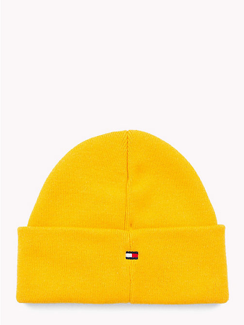 TOMMY HILFIGER Knitted Flag Kids' Beanie - SPECTRA YELLOW - TOMMY HILFIGER Shoes & Accessories - detail image 1