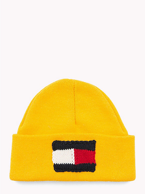 TOMMY HILFIGER Knitted Flag Kids' Beanie - SPECTRA YELLOW - TOMMY HILFIGER Shoes & Accessories - main image